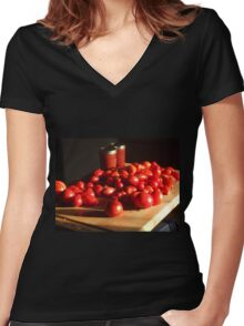 Clay's Garden 08 Women's Fitted V-Neck T-Shirt