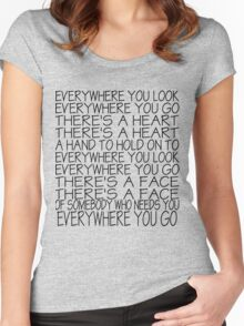 Everywhere You Look Women's Fitted Scoop T-Shirt