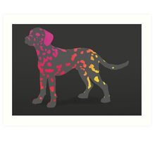 Hot spot the Dalmatian Art Print