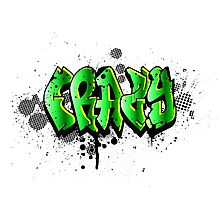 Crazy Graffiti Photographic Print