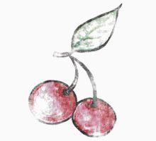 Vintage Cherries One Piece - Long Sleeve