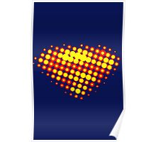 Superman Halftone Poster