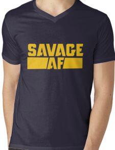 Savage AF Mens V-Neck T-Shirt