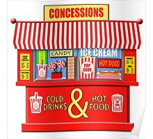 Movie Theater Concessions Stand  Poster