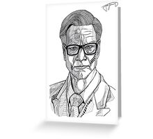 Colin Firth - Kingsman Greeting Card