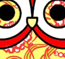 Chi Omega Owl Sticker