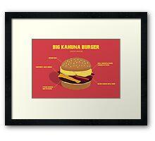 Kahuna burguer- Pulp Fiction Framed Print