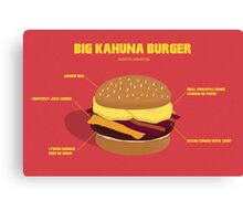Kahuna burguer- Pulp Fiction Canvas Print