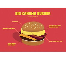 Kahuna burguer- Pulp Fiction Photographic Print