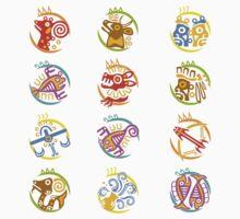 Maya art stylized zodiac signs  Baby Tee