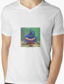 Pianito azul, by Diego Manuel Mens V-Neck T-Shirt