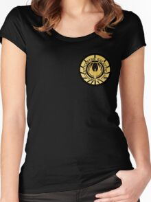Battlestar Galactica Golden Logo Women's Fitted Scoop T-Shirt