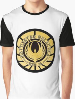 Battlestar Galactica Golden Logo Graphic T-Shirt