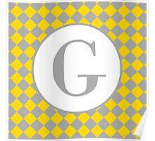 G Checkard Poster