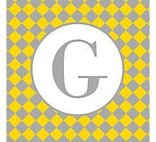 G Checkard Photographic Print
