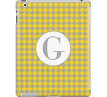 G Checkard iPad Case/Skin