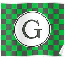 G Checkard II Poster