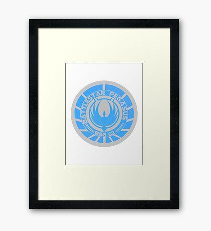 Battlestar Pegasus Logo Framed Print