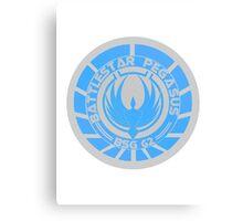 Battlestar Pegasus Logo Canvas Print
