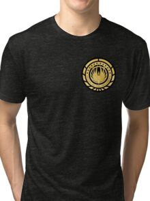 Presidential Seal of the twelve colonies Golden Logo Tri-blend T-Shirt