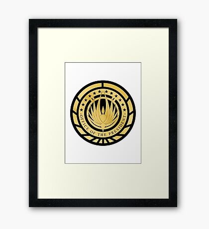 Presidential Seal of the twelve colonies Golden Logo Framed Print