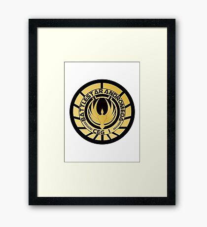 Battlestar Andromeda Golden Logo Framed Print