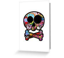 Skull Sticker Bomb Greeting Card