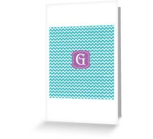 G turquois Greeting Card