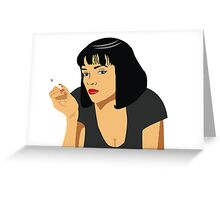 Uma Thurman - Pulp Fiction Greeting Card