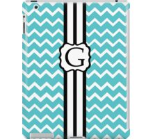 G Turquois Chevron II iPad Case/Skin