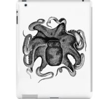 Vintage Cuttle Fish Illustration Retro 1800s Black and White Image iPad Case/Skin