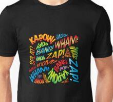 Pop Art Comic Book Sounds Unisex T-Shirt