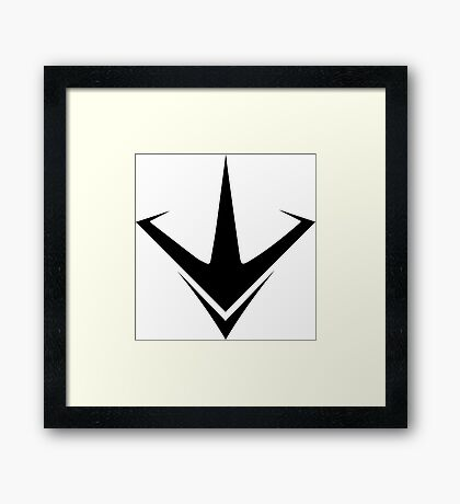 Paragon (Black) Framed Print