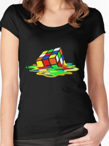 Rubik's Cube Cool Geek Women's Fitted Scoop T-Shirt