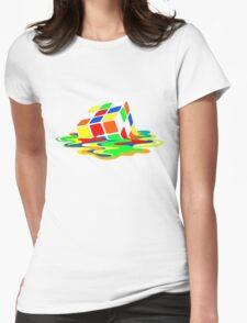 Rubik's Cube Cool Geek Womens Fitted T-Shirt