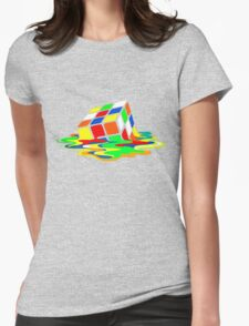 Rubik's Cube Cool Geek Womens Fitted T-Shirt
