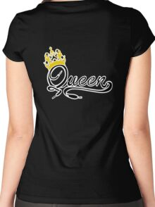Queen (Black) The Hers of the His and Hers Women's Fitted Scoop T-Shirt