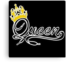 Queen (Black) The Hers of the His and Hers Canvas Print