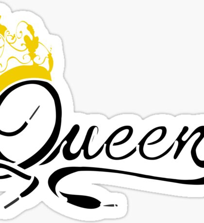 Queen (Black) The Hers of the His and Hers Sticker