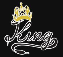 KING (Black) The His of The His and Hers couple shirts Kids Tee