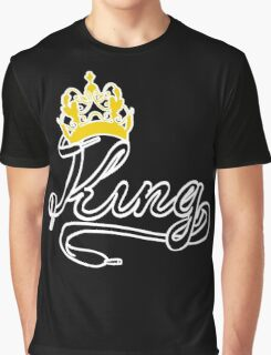 KING (Black) The His of The His and Hers couple shirts Graphic T-Shirt