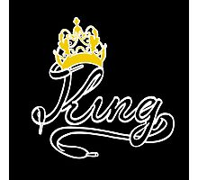 KING (Black) The His of The His and Hers couple shirts Photographic Print