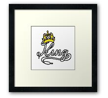 KING (White) The His of The His and Hers couple shirts Framed Print