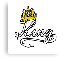 KING (White) The His of The His and Hers couple shirts Canvas Print