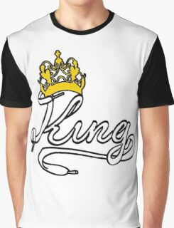KING (White) The His of The His and Hers couple shirts Graphic T-Shirt