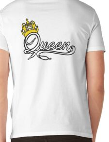 Queen (White) The Hers of the His and Hers Mens V-Neck T-Shirt