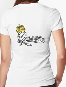 Queen (White) The Hers of the His and Hers Womens Fitted T-Shirt
