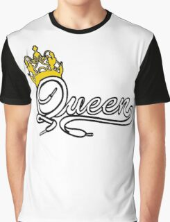 Queen (White) The Hers of the His and Hers Graphic T-Shirt