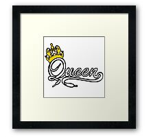 Queen (White) The Hers of the His and Hers Framed Print
