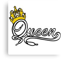 Queen (White) The Hers of the His and Hers Canvas Print